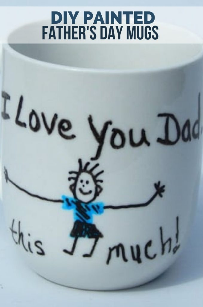 DIY Painted Father's Day Mugs