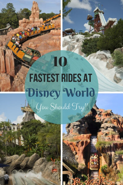 Fastest Rides at Walt Disney World