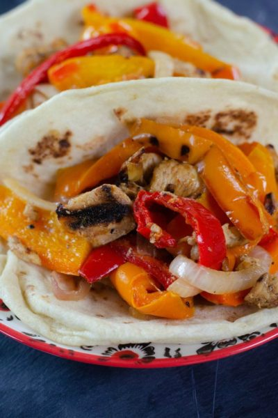 Skillet Chicken Fajitas with Bell Peppers and Onions
