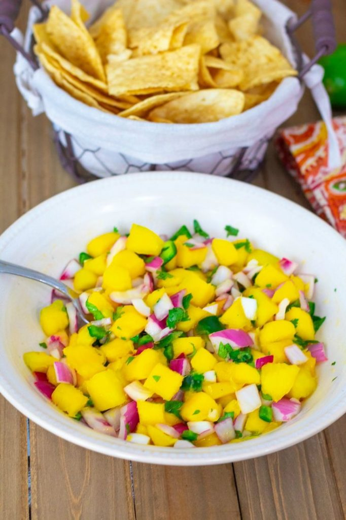 Easy to make spicy Mango Salsa