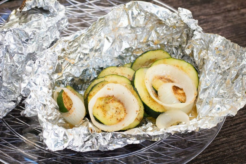 Campfire Zucchini Foil Packets
