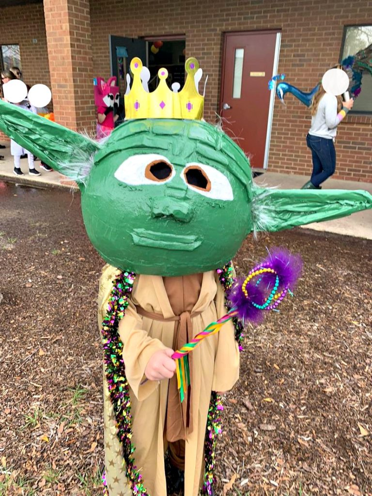 Yoda Paper Mache Head with Crown
