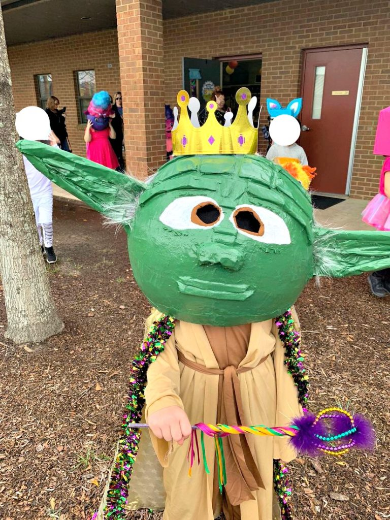 Yoda Paper Mache with Crown