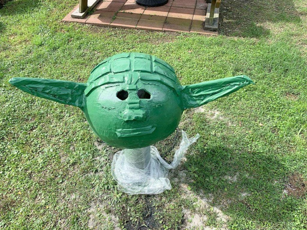 Yoda Paper Mache Head - This Ole Mom