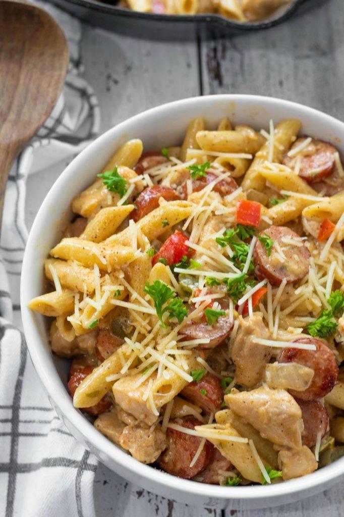 Cajun Chicken and Sausage Pasta