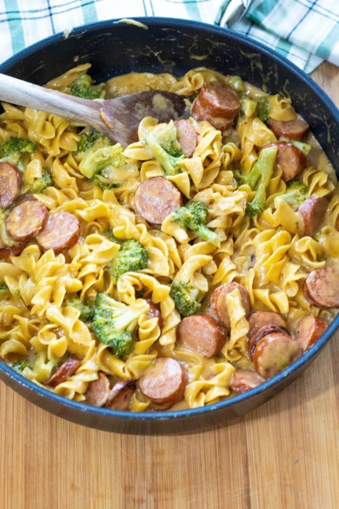 Broccoli and Sausage Pasta Skillet