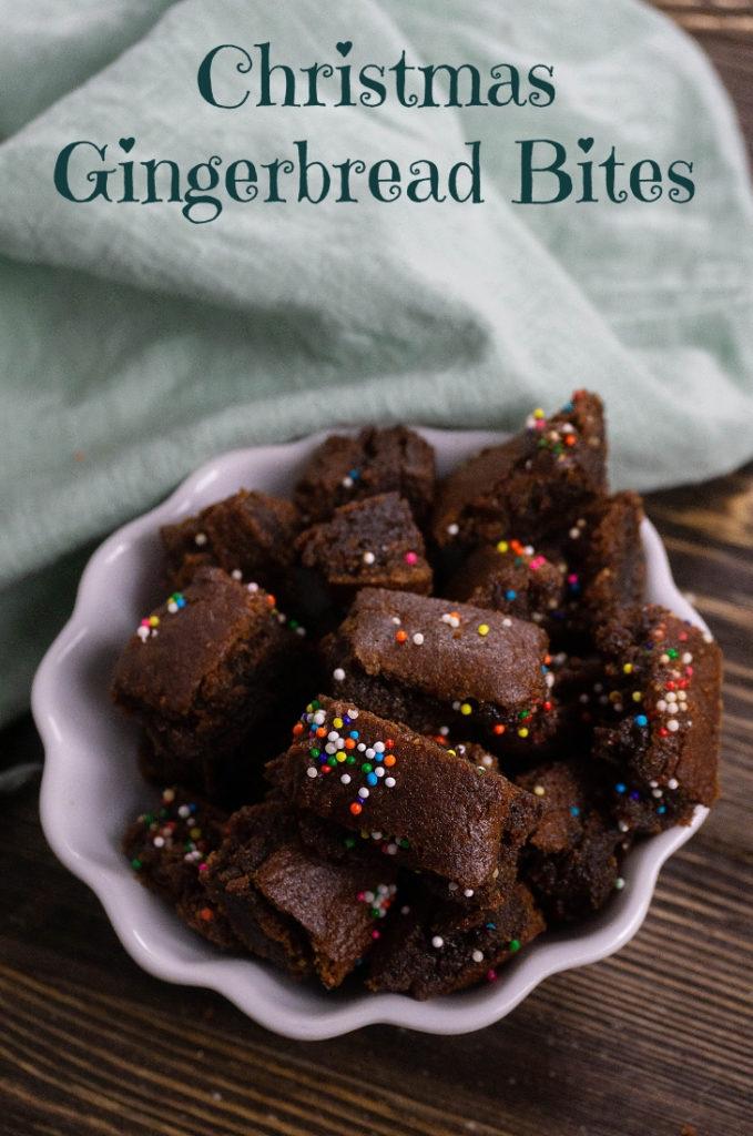 Christmas Gingerbread Bites