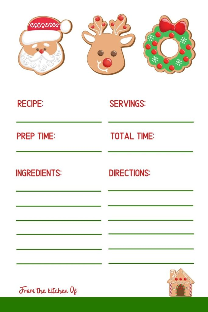 Cookie Exchange Party Recipe Card