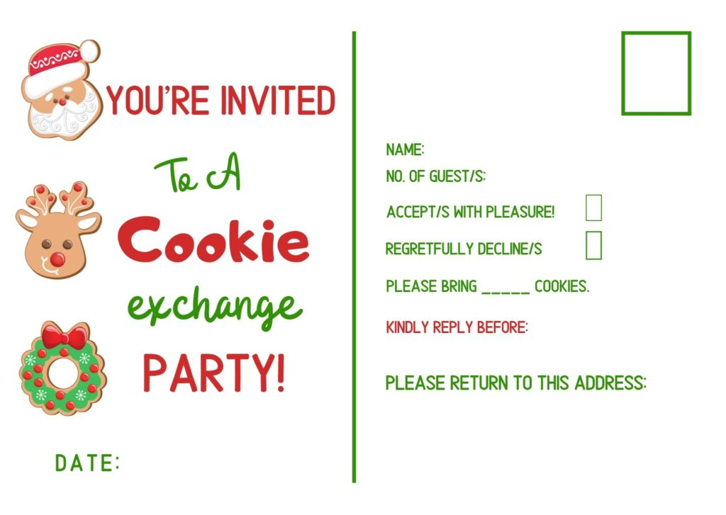 Cookie Exchange Party Invite