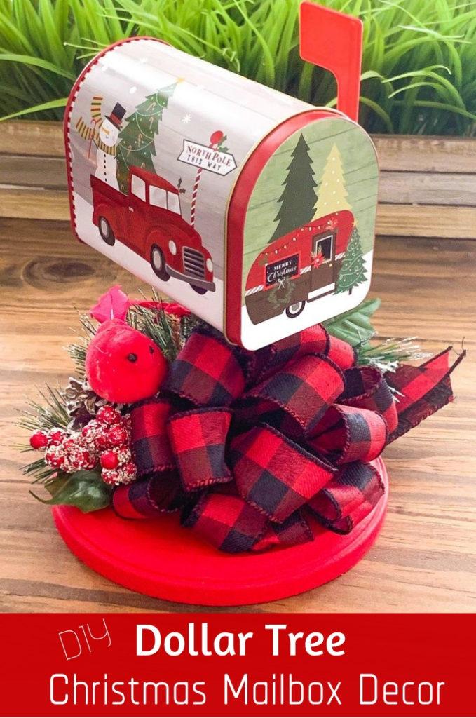 Dollar Tree DIY Christmas Mailbox Decor