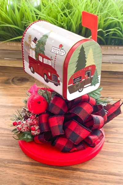 Dollar tree Christmas Mailbox Decor