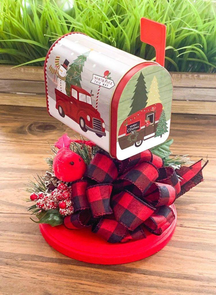 Dollar Tree Christmas Mailbox Decor