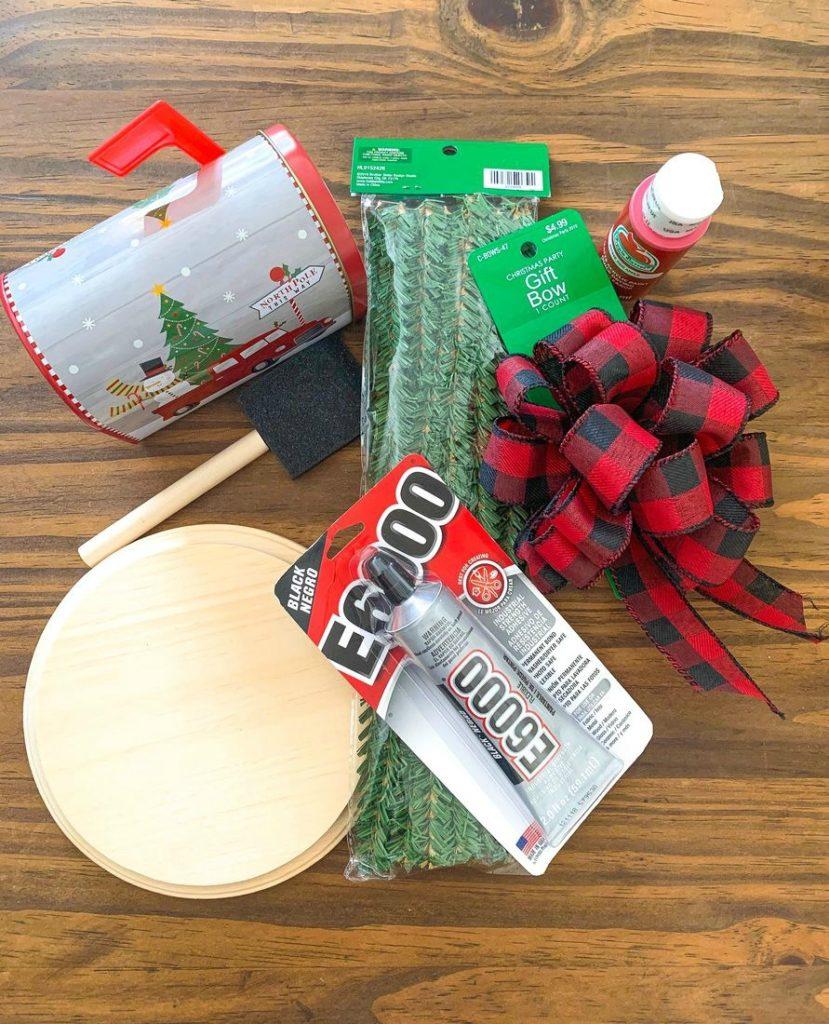 Dollar Tree Christmas Mailbox Decor Supplies