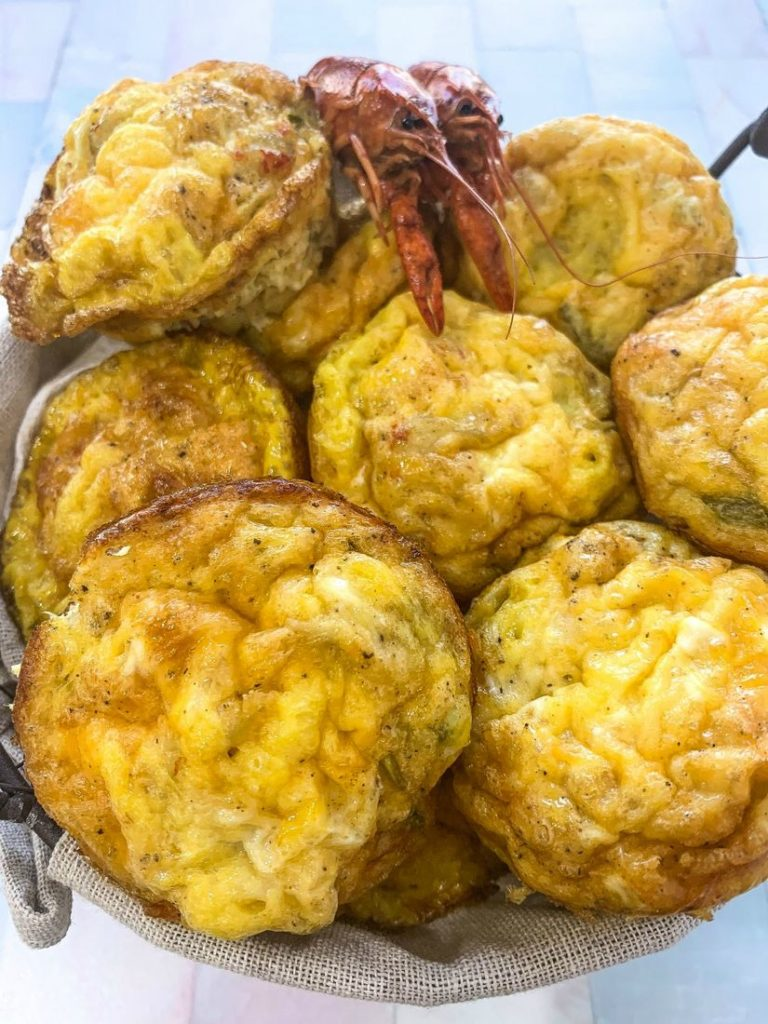 Crawfish Omelette Egg Cups