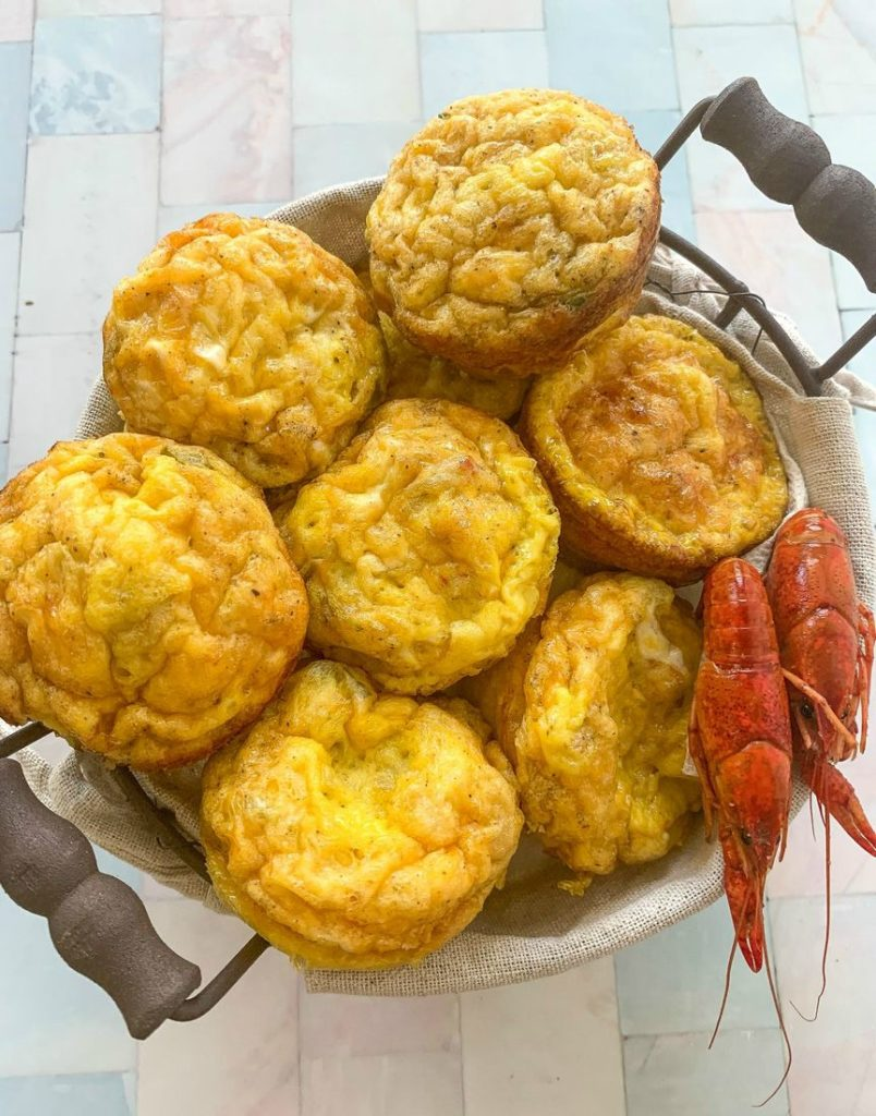 Crawfish Omelette Egg Muffin Cups