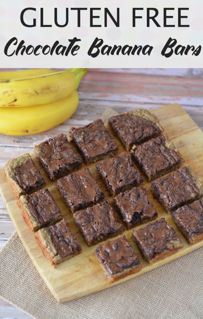 Gluten-Free Chocolate Banana Bars Pin for Pinterest