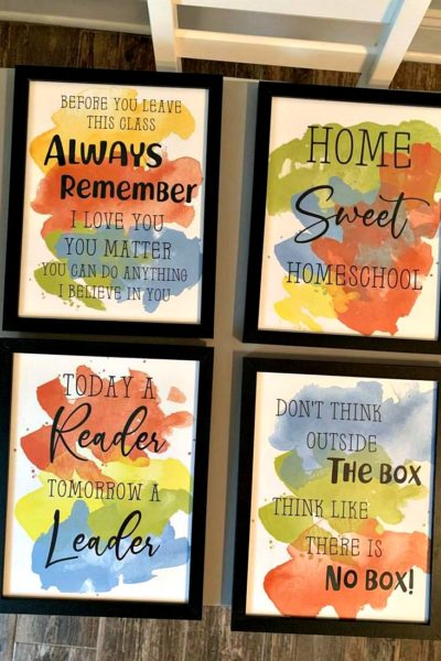 Homeschool Wall Art Printables