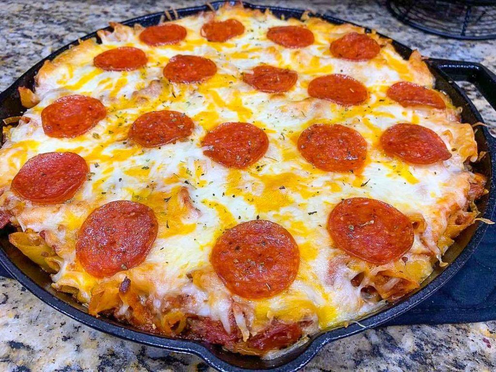 Pizza Pasta Skillet Casserole recipe