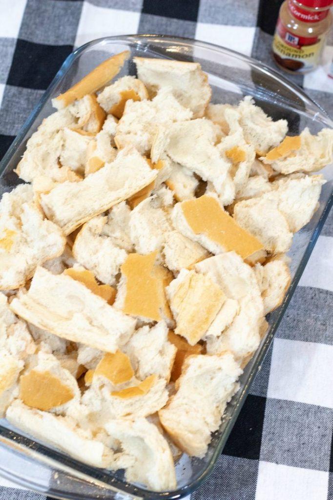 French Bread in Casserole Dish