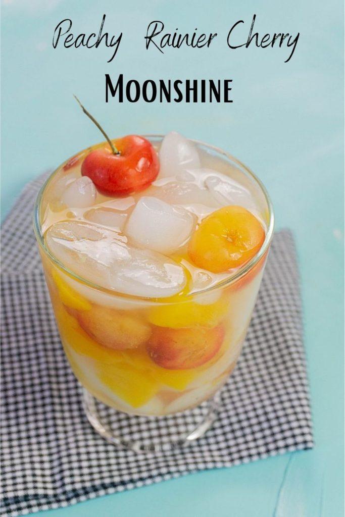 Peach Rainier Cherry Moonshine