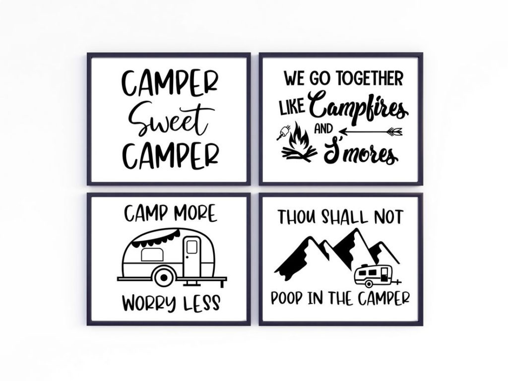 6 Free Printable Camping Décor Signs