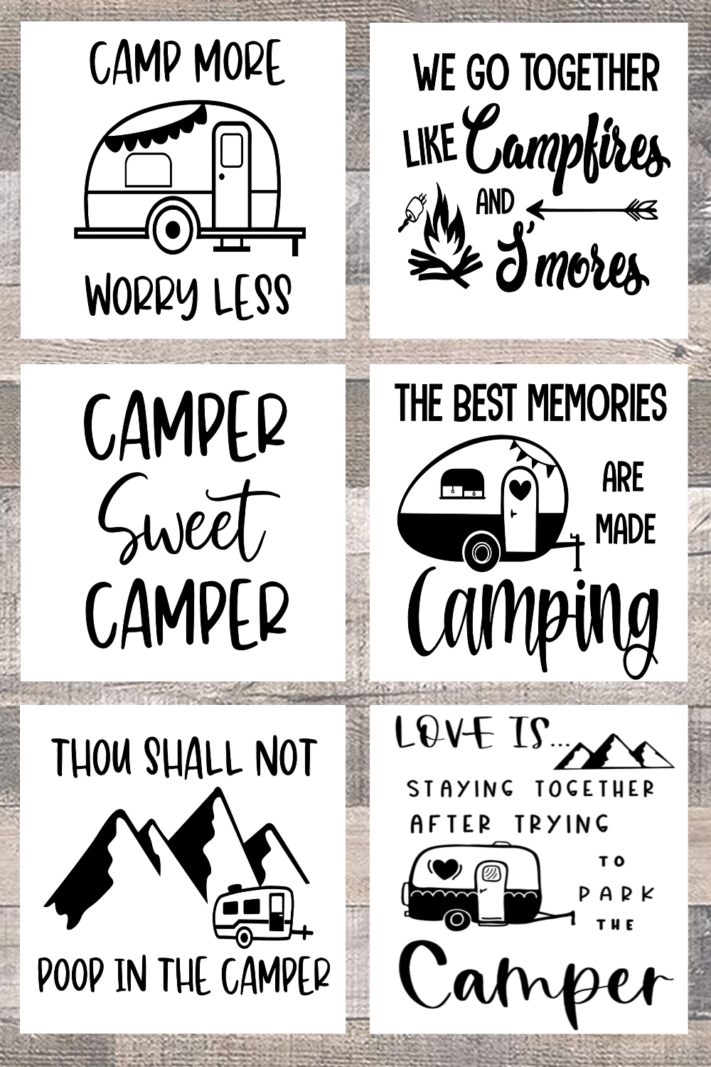 Free Printable Camping Décor Signs