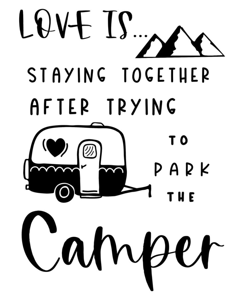 Free Printable Camping Décor Signs (Love Is Sign)