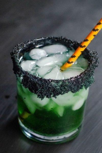 Halloween Bats Guts Green Cocktail